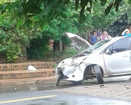 Posadas: Accidente sobre las avenidas Almirante Brown y Las Heras