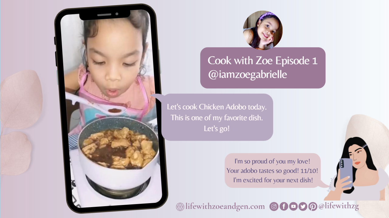 How my 6 years old daughter started cooking. Cooked her first chicken adobo on her own. Life with ZG l Homeschooling PH