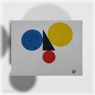 Έργο ζωγραφικής του Ronis Varlaam (The Pythagoras Theorem - alternative version, Το Πυθαγόρειο θεώρημα - εναλλακτική έκδοση)
