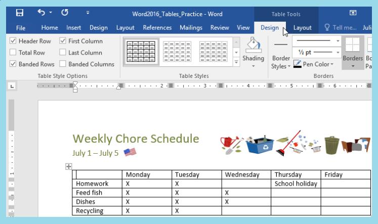 langkah langkah membuat tabel pada ms word