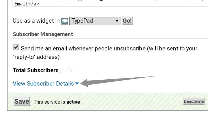 backup FeedBurner subscribers email list step-6