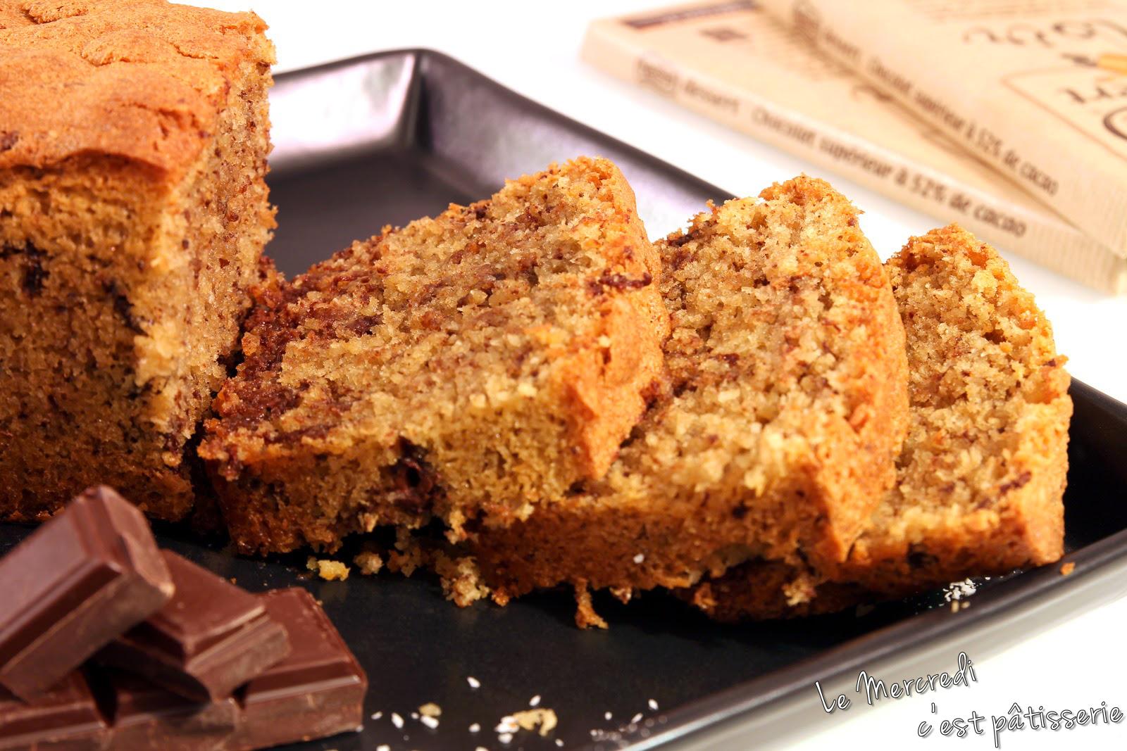 Cake noix de coco - chocolat