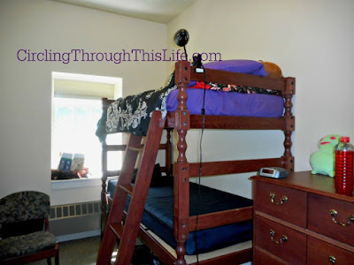 She unplacked her things and started making her room into home away from home