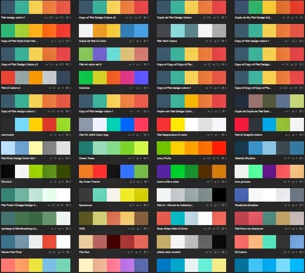 Stencil Combinacion de colores planos para vuestros