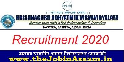 Krishnaguru Adhyatmik Visvavidyalaya, Barpeta Recruitment
