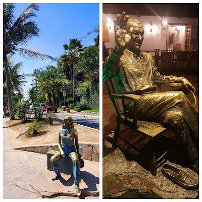 Estátua de Brigite Bardot e Juscelino Kubitschek na Orla Bardot, Búzios