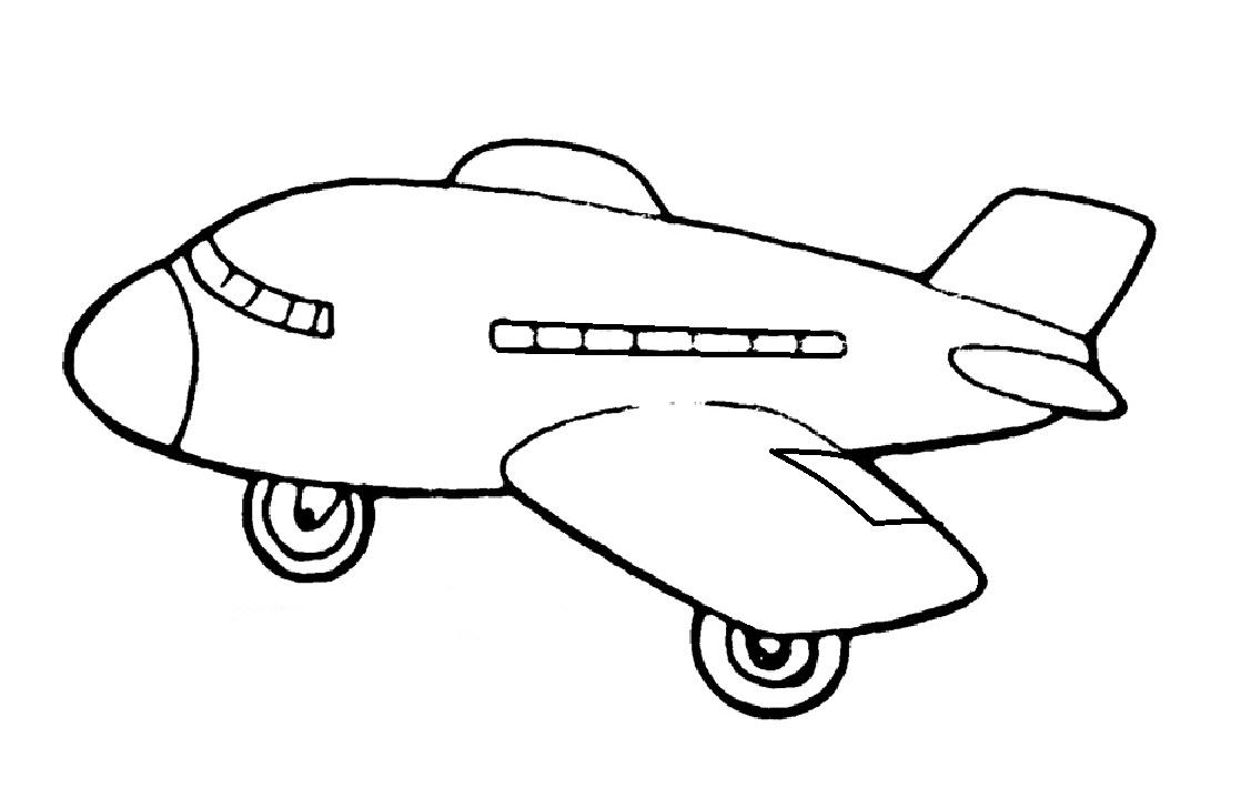 Gambar Mewarnai Pesawat Terbang 15