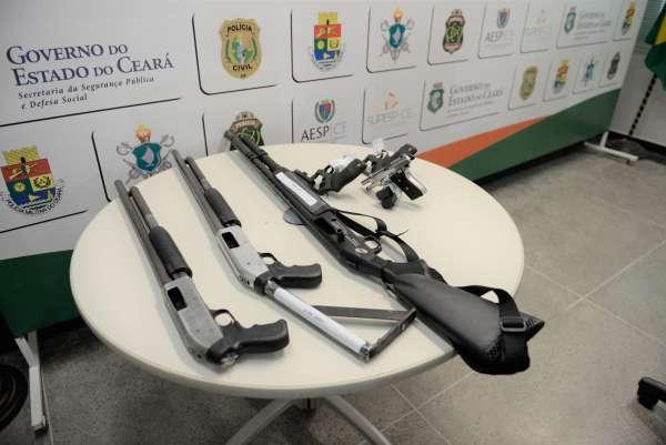Forças de Segurança apreendem 2.999 armas de fogo no primeiro semestre de 2021 no Ceará