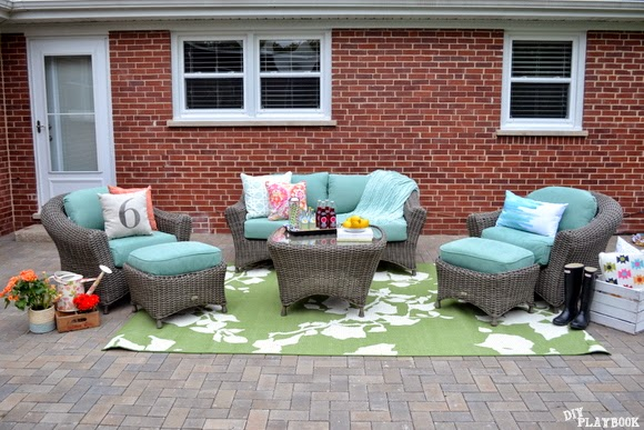 Patio Reveal: Before & After Pictures!! Home Decorators Collection Outdoor Furniture