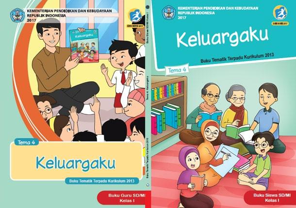 Buku Tematik Kelas 1 TEMA 4. Keluargaku pdf K13 Revisi 2017 Guru & Siswa