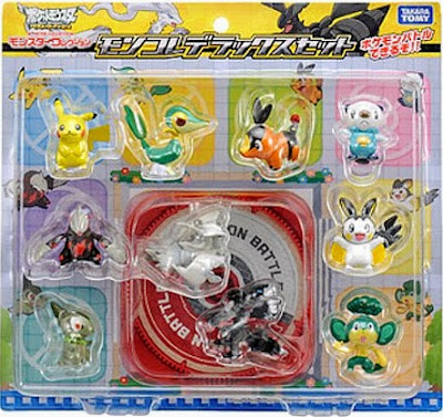 Oshawott figure Takara Tomy Monster Collection BW figures 10pcs DX set
