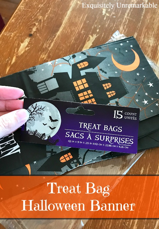 Treat Bag Halloween Banner