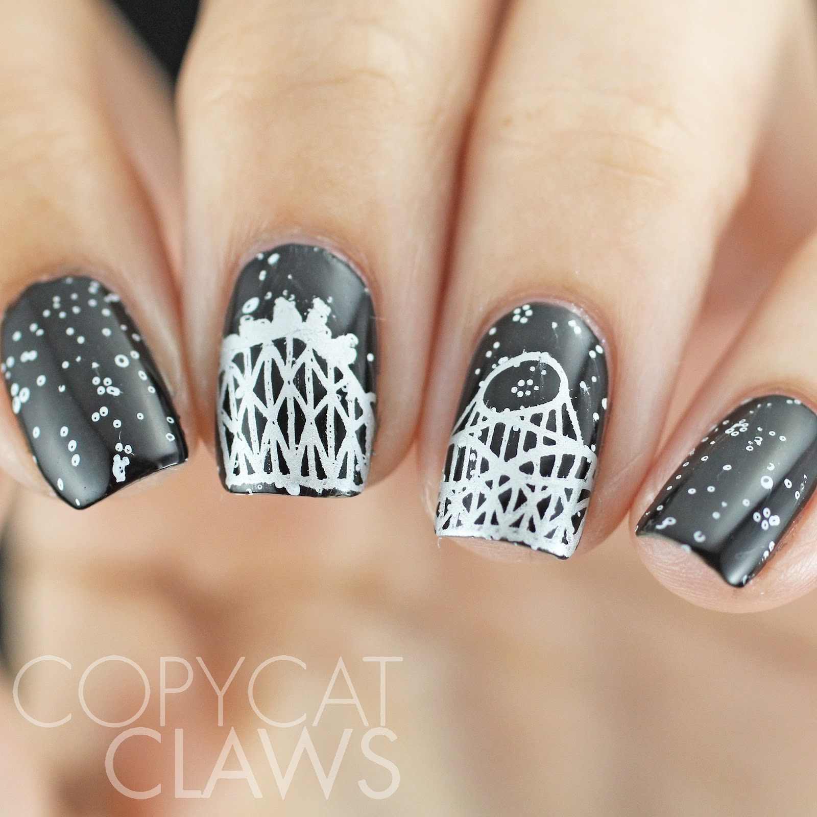 Copycat Claws The Night Circus Nail Art