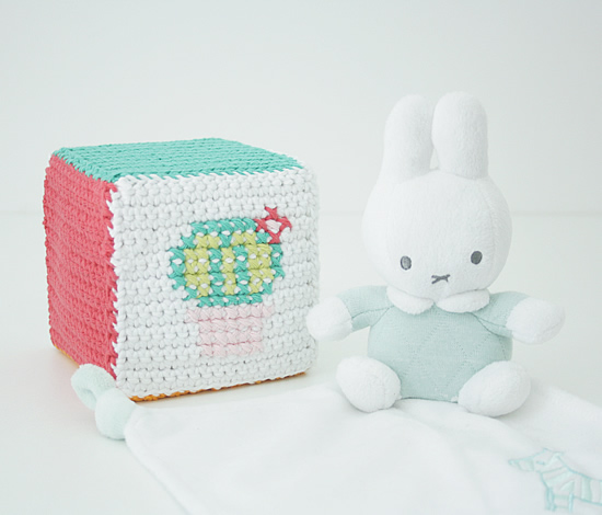 Crochet cube: the cactus cube, by Happy in Red