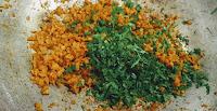 Seasoning soya granules with salt pepper, Cumin Cilantro for soya protein Burger Recipe
