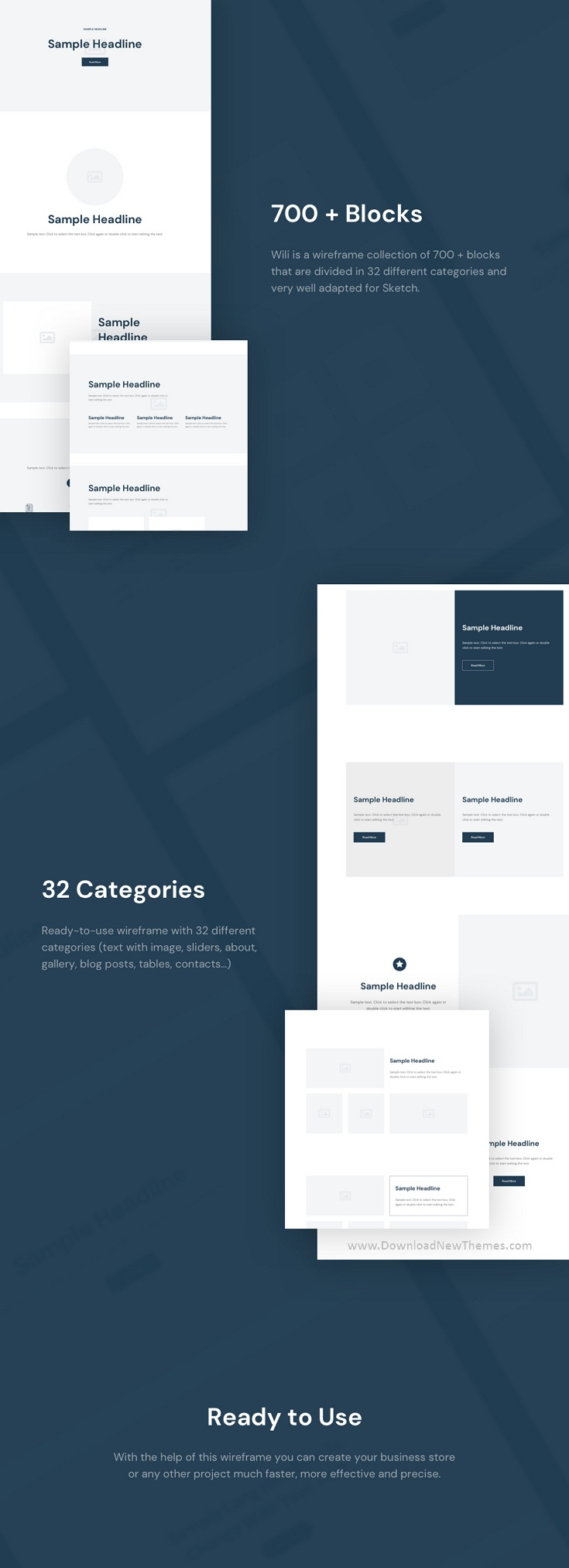 Website Wireframe Collection