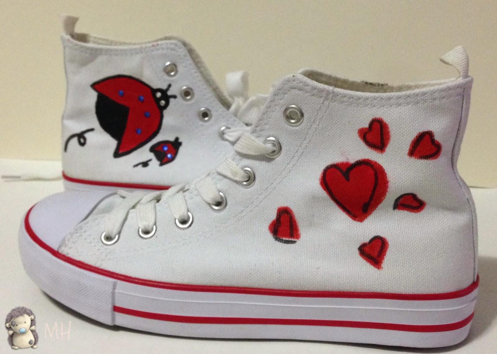 Zapatillas de lona pintadas