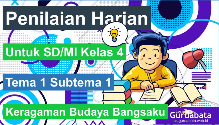 Penilaian Harian Kelas 4 Tema 1 Subtema 1 Keragaman Budaya Bangsaku