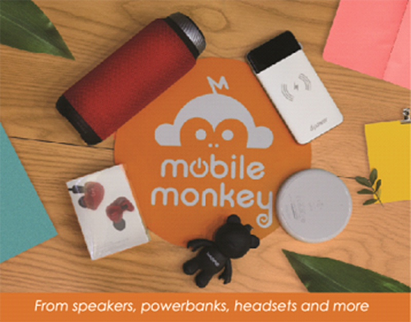 From speakers, power banks, headset, and more