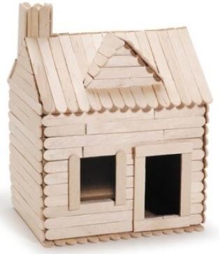 บ้านไม้ไอติมมีหน้าต่าง ประตู