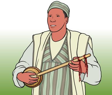 ナイジェリア ハウサ族の グルミ Gurmi