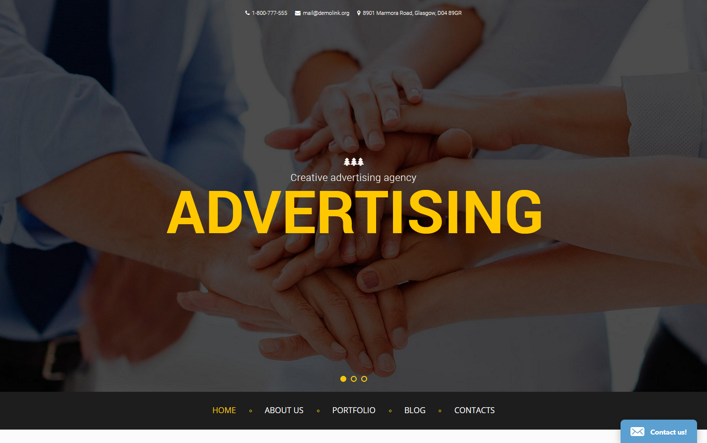 Advertising Drupal Template