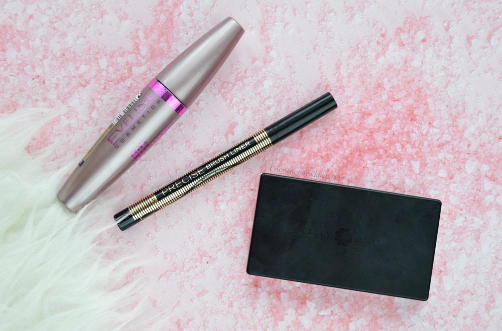 Eveline Cosmetics: tusz Oh my lashes! i eyeliner Precise  Brush Liner. lily lolo