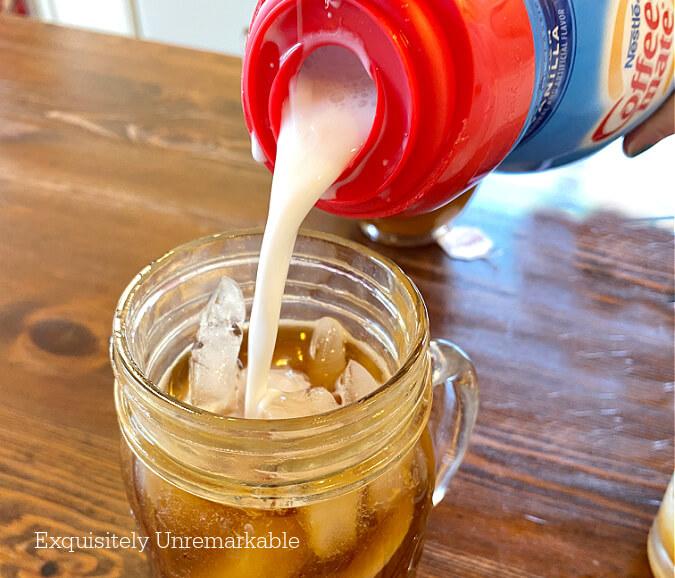 Iced Caramel Coffee With Creamer