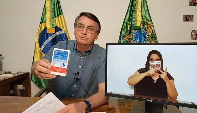 Bolsonaro elogia cloroquina: '12 horas depois estava bem'