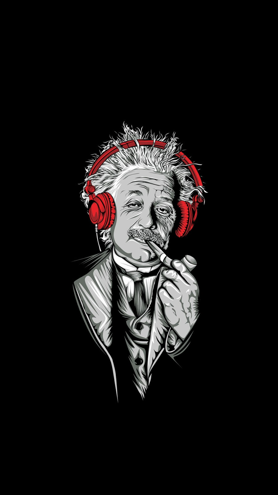 Albert Einstein Digital Art Mobile Wallpaper