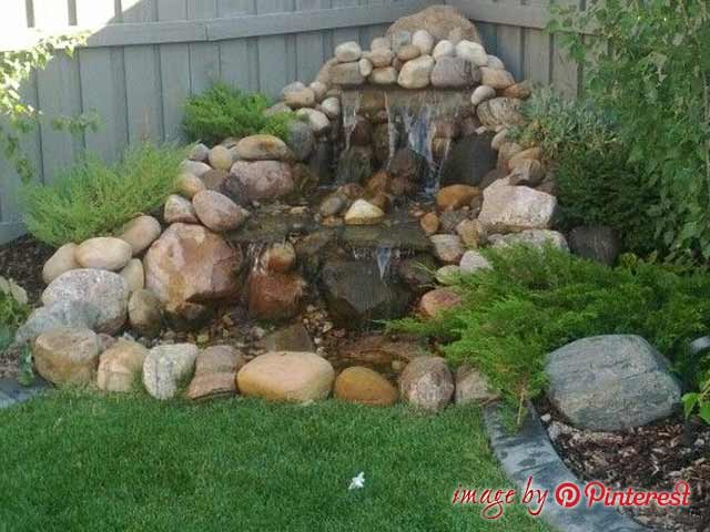 How to build a garden water fall front yard and backyard for How to build a coy pond with waterfall