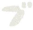 カタカナのペンキ文字「ブ」