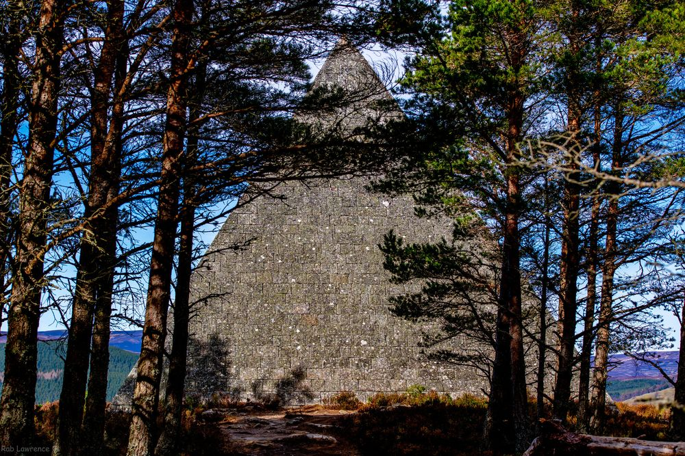 The cairn dedicated to Prince Albert