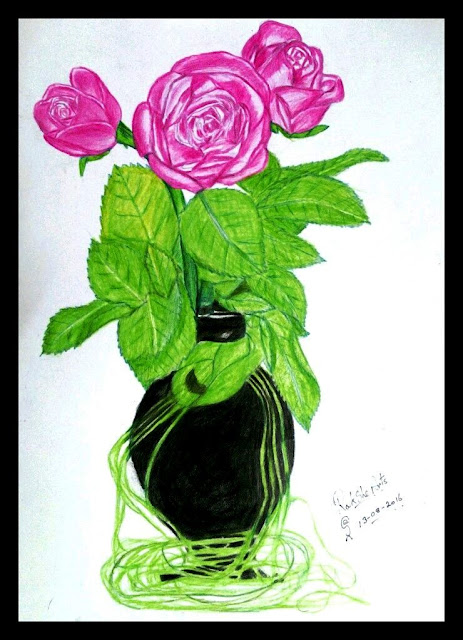 ORIGINAL DRAWING FOR SALE - THREE ROSES