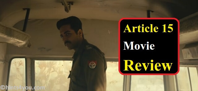 Article 15 Movie Story :