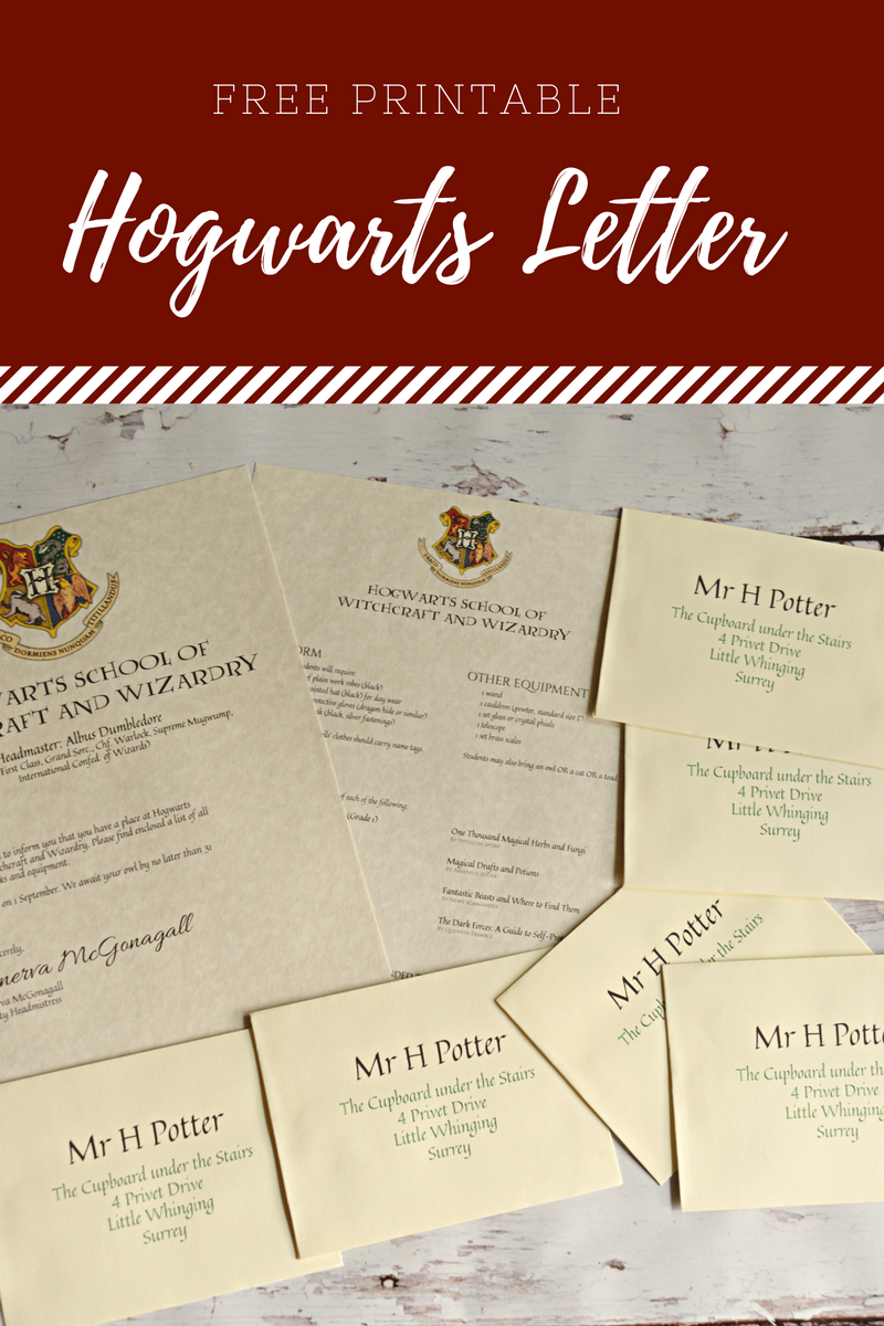 Free Printable Hogwarts Letter Housewife Eclectic