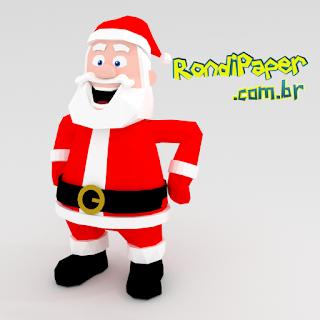 papai noel papercraft rondipaper para silhouette