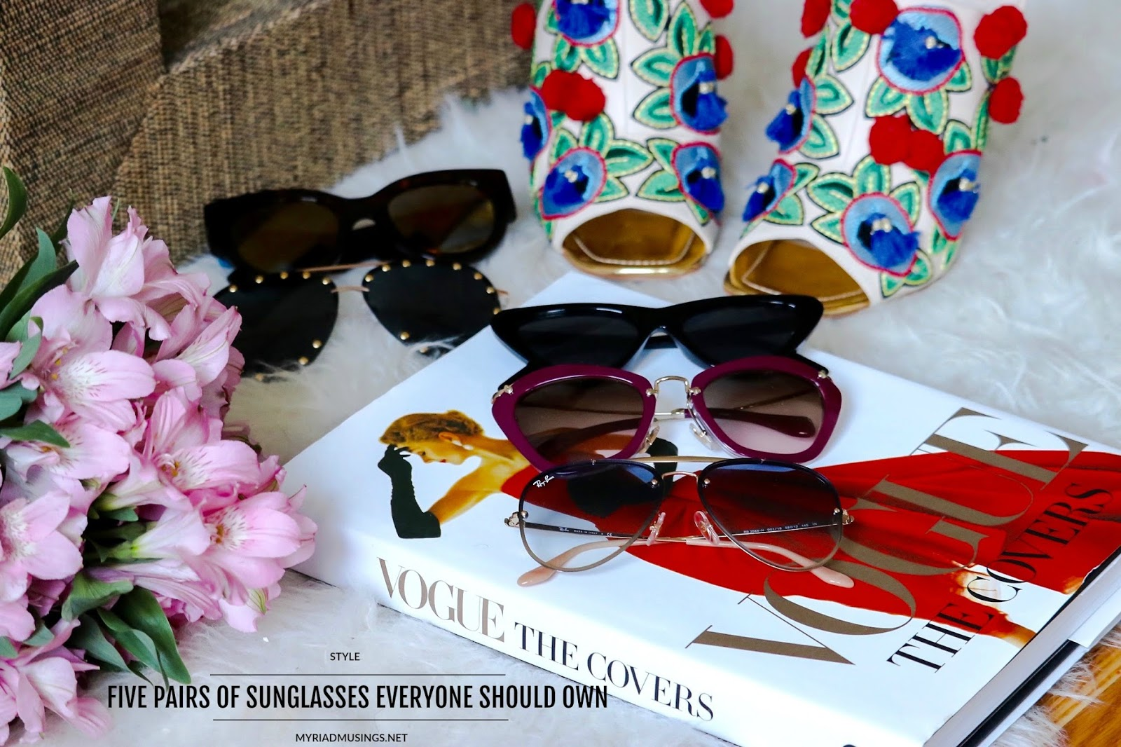 five sunglasses you need to own before 35, sunglasses for different face shapes, ray ban, how to wear skinny sunglasses, cateye sunglasses, myriad musings