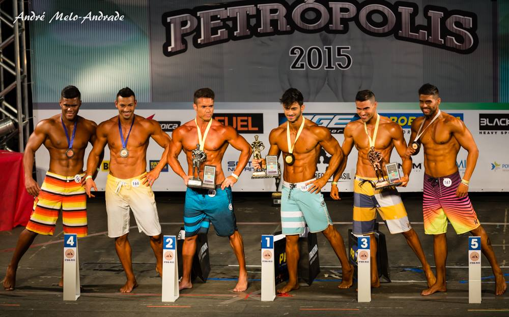 Breno Neves conquistou o quarto lugar da categoria Men's Physique até 1,78 m. Foto: André Melo Andrade