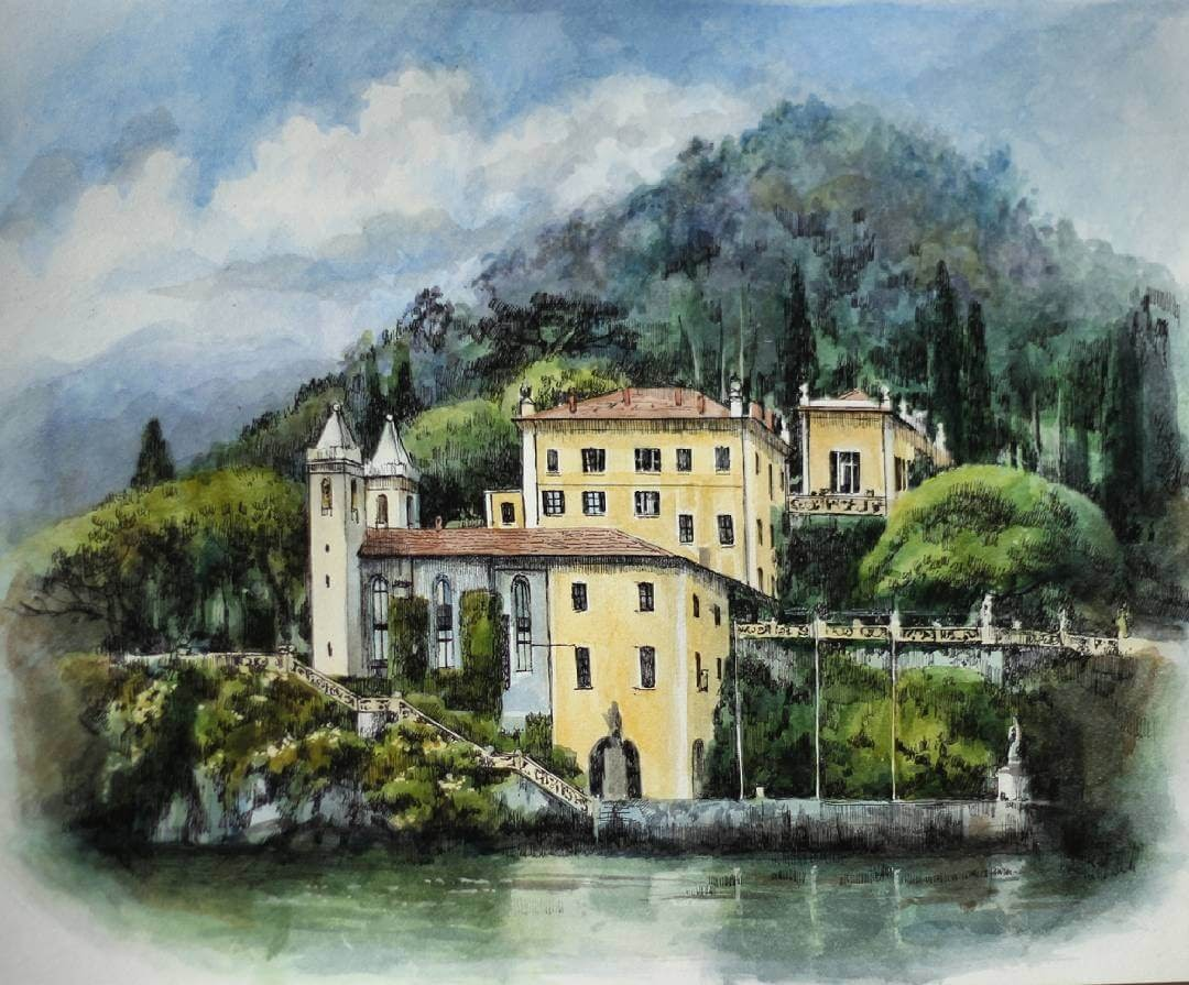 04-Villa-del-Balbianello-Martha-Nyrkova-Urban-Sketching-Drawings-and-Paintings-www-designstack-co