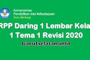 RPP Daring 1 Lembar Kelas 1 Tema 1 Revisi 2020