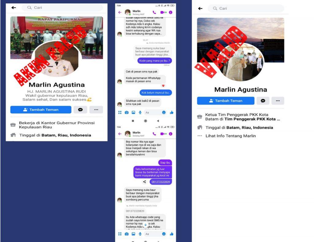 Hati-Hati ! Akun Palsu Facebook Mencatut Nama Marlin Agustina Beredar