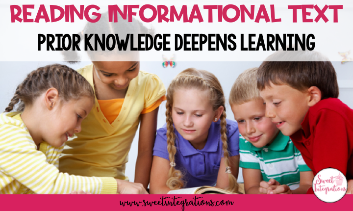 Reading Informational Text - Prior Knowledge Deepens Learning - Title Page