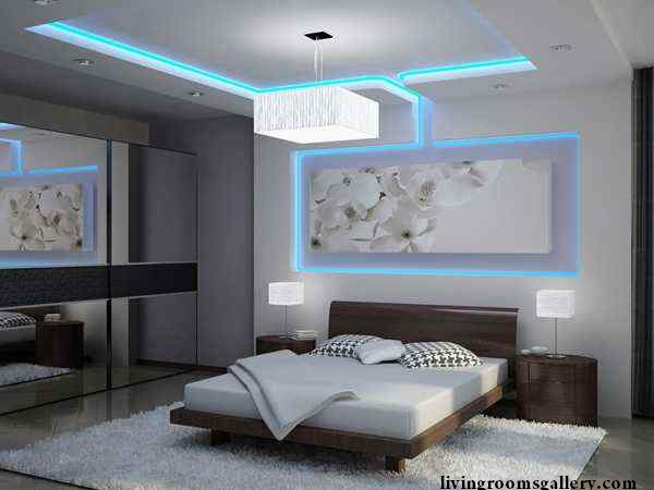 plaster of Paris False Ceiling Designs with LED Ceiling Lighting Ideas