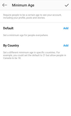 How to add Age Filter or Country Filter in Instagram