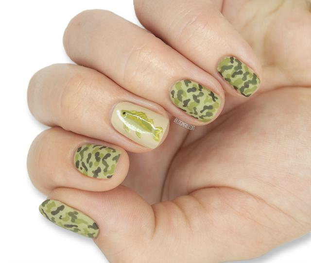 fish nail art camouflage nail art