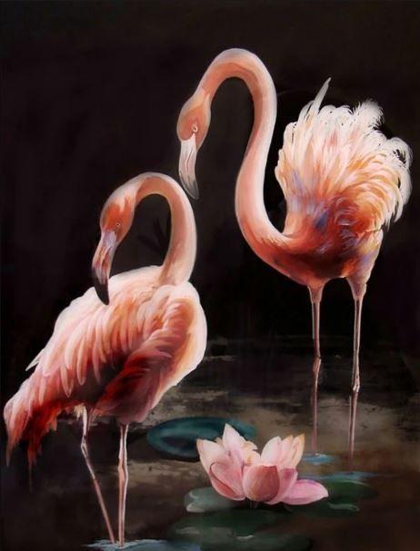 tranh hồng hạc