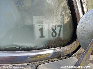 1987 registration sticker in window.