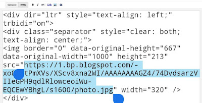 Reduce Blogger images size by editing image URL
