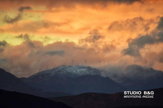 Ξεκινησε η χιονόπτωση στα ορεινά της Αργολίδας